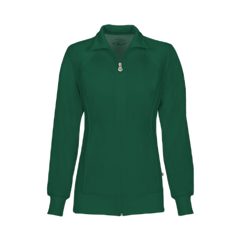 Cherokee Warm Up Jacket Infinity Zip Front Warm-Up Jacket Hunter Green Warm Up Jacket