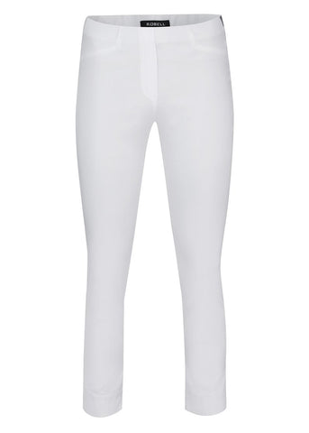 Rose 09 3/4 length Robell Trousers in White