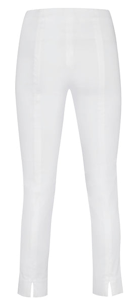 Rose 09 Ankle Slim Trousers in White