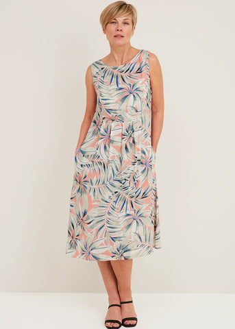 Hothouse Print Marin Dress in Melon