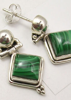 Malachite Drop Earrings