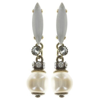 Pearl Stud Dangling Fiancee Earrings