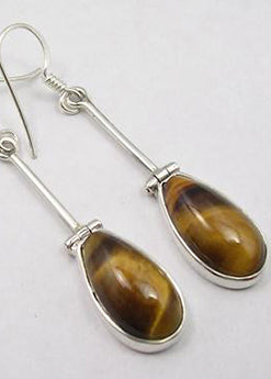 Solid Silver Hinged Drop Earrings
