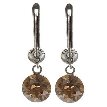 Black Jack Drop Earrings - Light Smoked Topaz