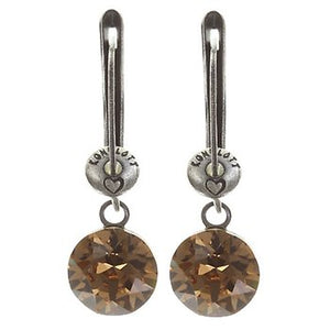 Black Jack Drop Earrings - Beige Light Smoked Topaz