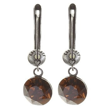 Black Jack Drop Earrings - Smoked Topaz