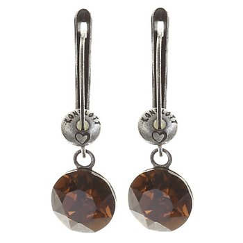 Black Jack Drop Earrings - Brown Smoked Topaz