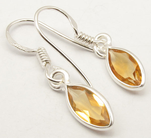 Solid Silver Tear Drop Earrings at 'r a f t clothing'