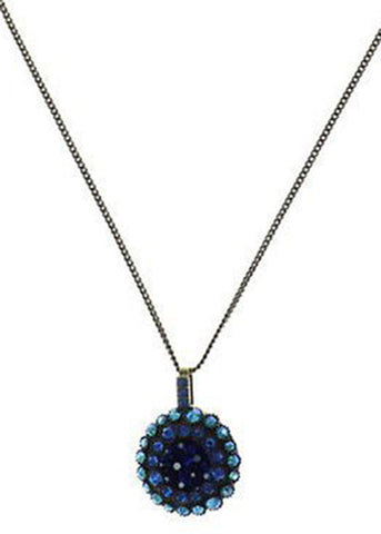 Inside Out Blue Pendant Necklace