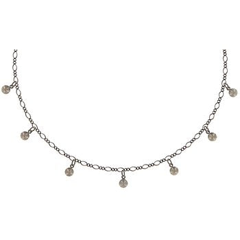 Tutui Collection Drop Crystal Necklace in Red Siam