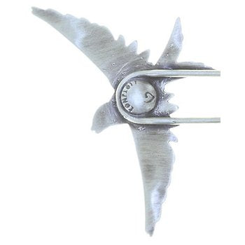 Sparrow Hairpin in Antique Silver