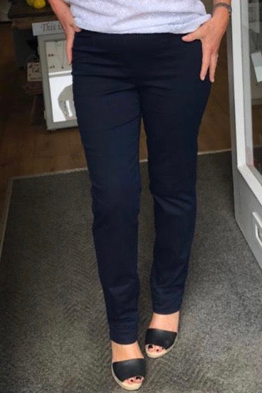 Denim Marie Full Length Jeans in Navy
