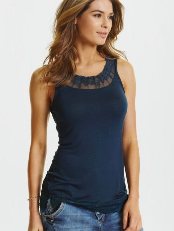 Florence Vest Top in Navy