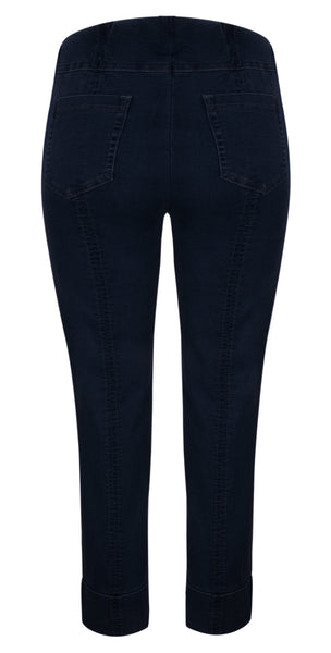 Robell Dark Blue Power Stretch Denim Bella Jeans at 'r a f t clothing'