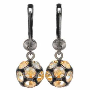 Cognac Dangling Disco Balls Earring from Konplott at 'r a f t clothing'