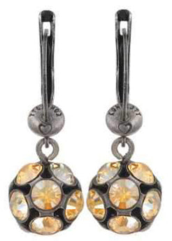 Disco Balls Dangling Earrings- Cognac