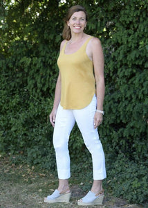 Denim Bella 3/4 Length Jeans in White