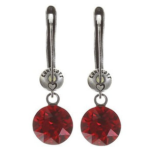 Earring Dangling Black Jacks - Red