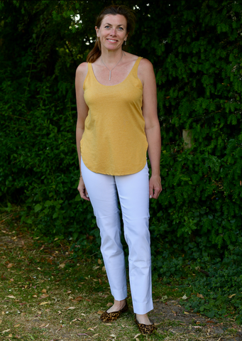 Marie Full Length Trousers in White 10