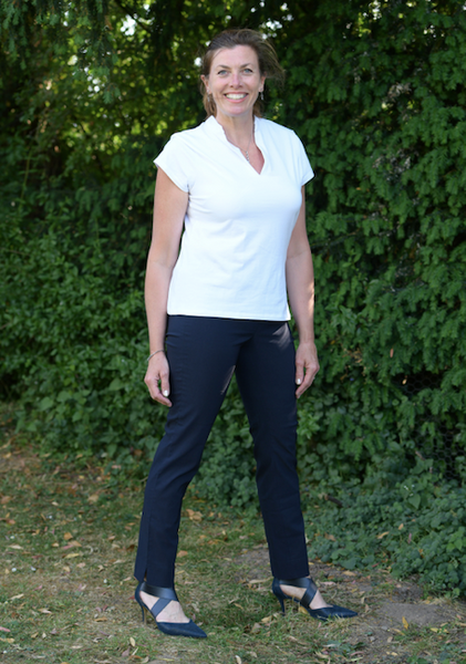 Marie Full Length Trousers in Navy 69