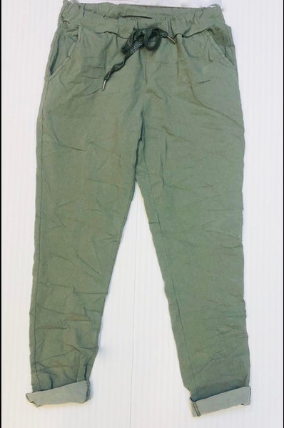 Magic Trousers in Plain Cotswold Green