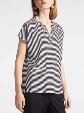 Striped T-shirt made of stretch fabric