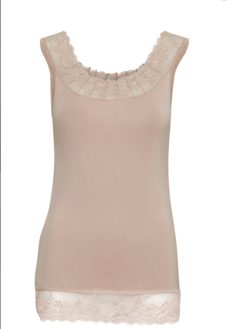 Powder Pink Florence Vest Top at 'r a f t clothing'