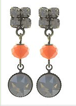 Chameleon Earrings Stud Dangling - Orange