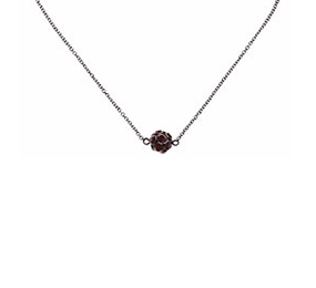 Small Disco Ball Necklace - Red