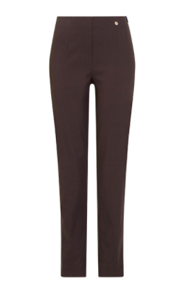 Marie Full Length Trousers in Dark Brown 39