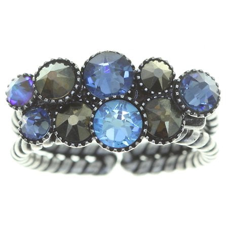 Water Cascade Blue/Brown Ring