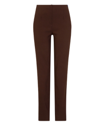 Robell Chocolate Marie Trousers at 'r a f t clothing'