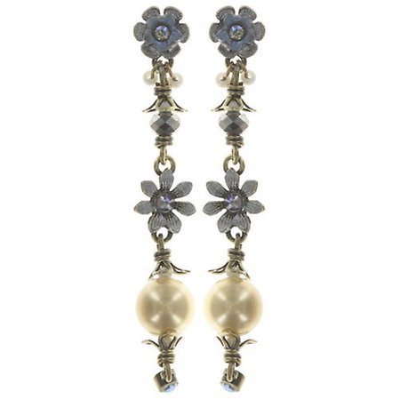Long Drop Arsenic in Old Lace Pearl Earrings