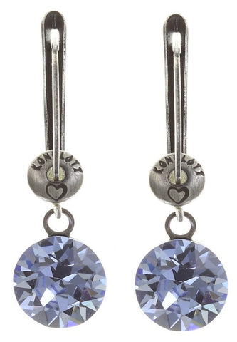 Black Jack Drop Earrings - Light Sapphire