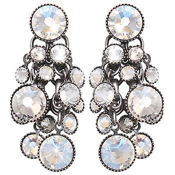 Waterfalls earrings - white