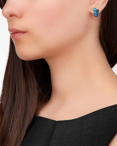Inside Out Blue Stud Earrings