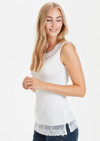 Florence Vest Top in Chalk