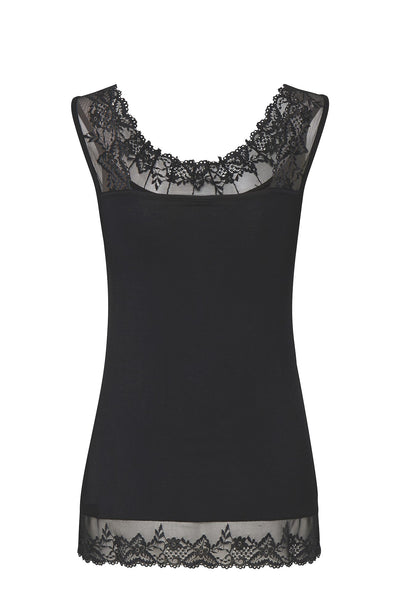 Florence Vest Top in Pitch Black