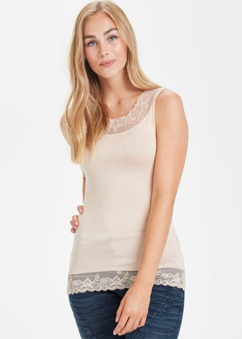 Florence Vest Top in Powder Pink