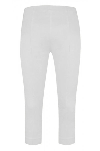 Bella 3/4 Length Trousers in White 10