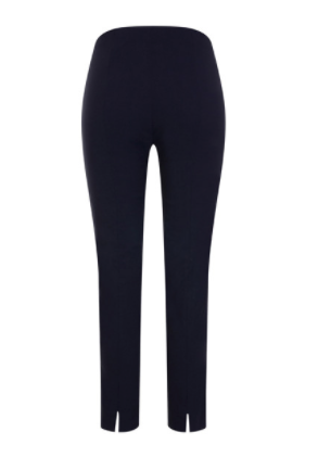 Robell Navy Rose Trousers at 'r a f t clothing'