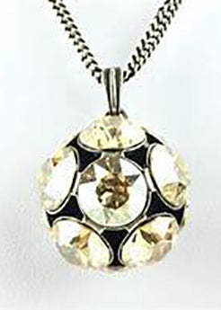 Necklace Pendant Disco Ball Large - Cognac