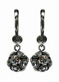 Dangling Disco Balls Earrings - White