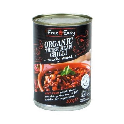 Free & Easy Three Bean Chilli (400g) - Cabinet Organic