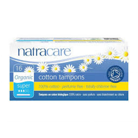 Natracare Cotton Tampons Regular (16 tampons) - Cabinet Organic