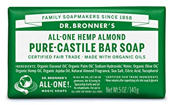 Dr Bronner's Hemp Green Tea Bar Soap (140g) - Cabinet Organic