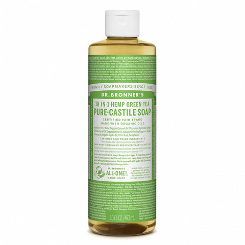 Hemp Green Tea Pure Castile Soap (237ml) - Cabinet Organic