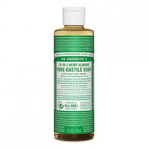 Almond Pure Castile Soap (237ml) - Cabinet Organic