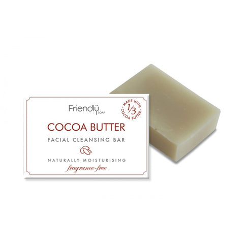 Friendly Cocoa Butter Facial Cleansing Bar (95g) - Cabinet Organic