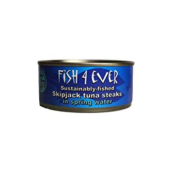 Skipjack Tuna Steaks in Organic Olive Oil (160g) - Fish4ever